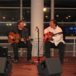 John Goldie and Alex during a concert in the library of The Hague 2010