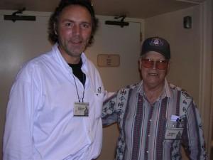 Alex with 87 years old legend Bob Saxton
