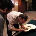 Alex signing