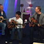 Live TV show with John Goldie and Melvyn Gnai